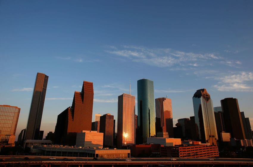 HOUSTON, TX - MARCH 26: Houston Sports take place under this skyline (Photo by Scott Halleran/Getty Images)