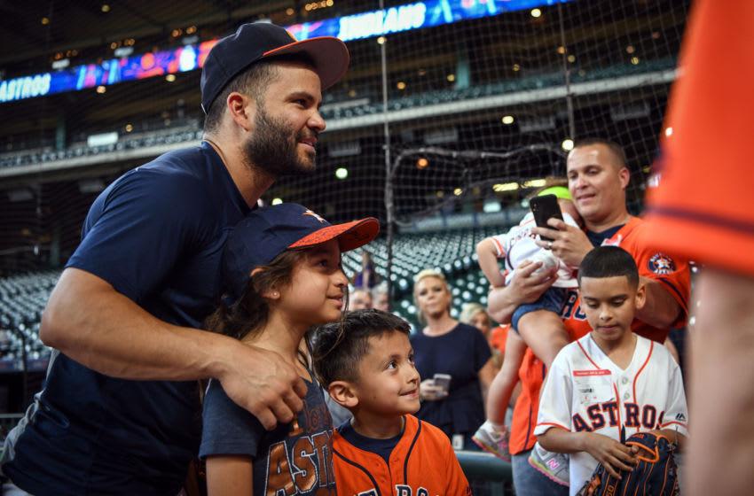 Astros infielder Jose Altuve with fans, a Houston Sports success story (Photo by Loren Elliott/MLB Photos via Getty Images)