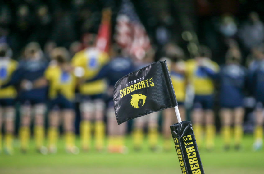 Houston Sports | Houston SaberCats corner flag (Photo by Leslie Plaza Johnson/Icon Sportswire via Getty Images)