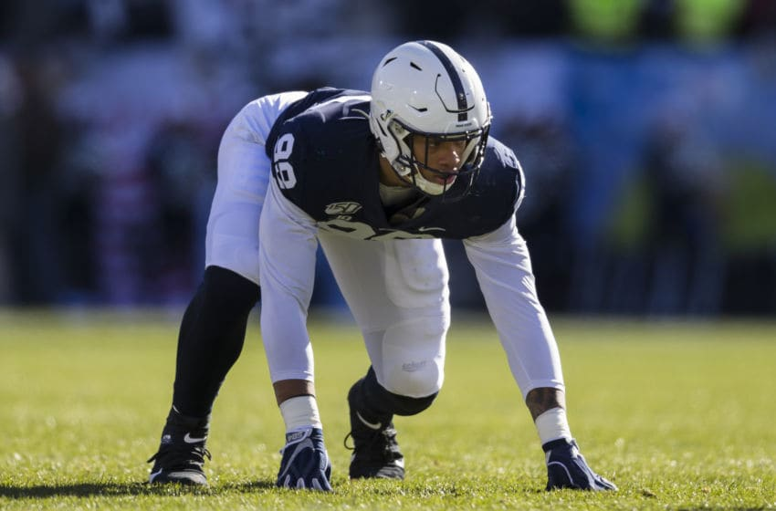 Penn State's Yetur Gross-Matos, who should be drafted by the Houston Texans (Photo by Scott Taetsch/Getty Images)
