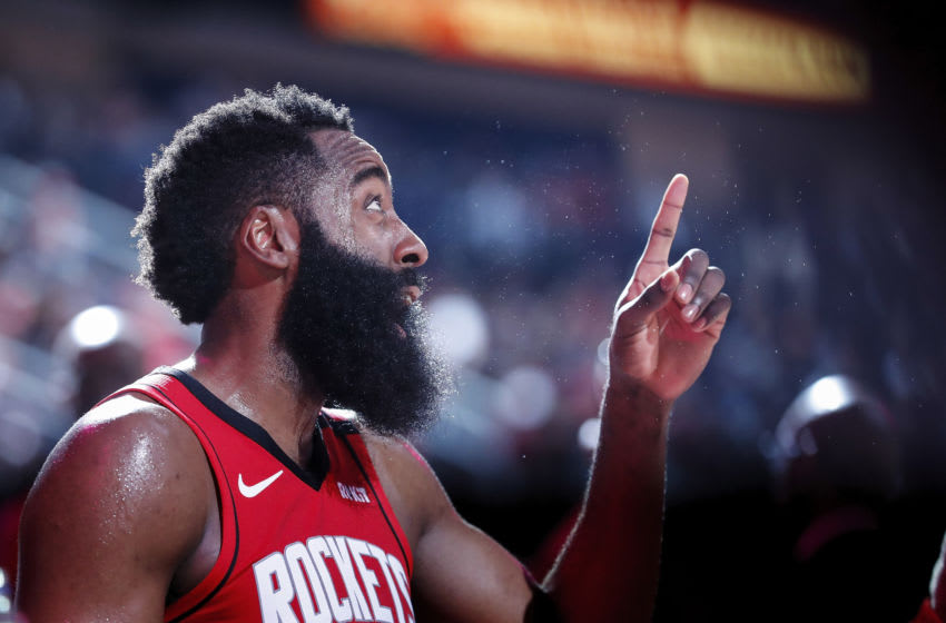 Houston Rockets guard James Harden (Photo by Tim Warner/Getty Images)