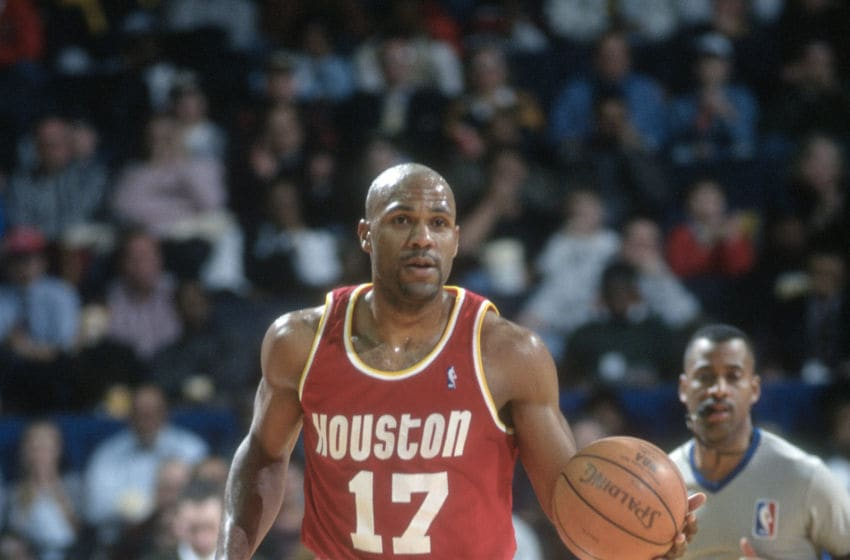 Houston Rockets guard Mario Elie (Photo by Focus on Sport/Getty Images) *** Local Caption *** Mario Elie