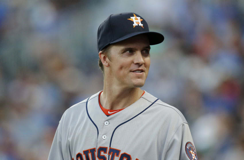 Zack Greinke of the Houston Astros (Photo by John Sleezer/Getty Images)