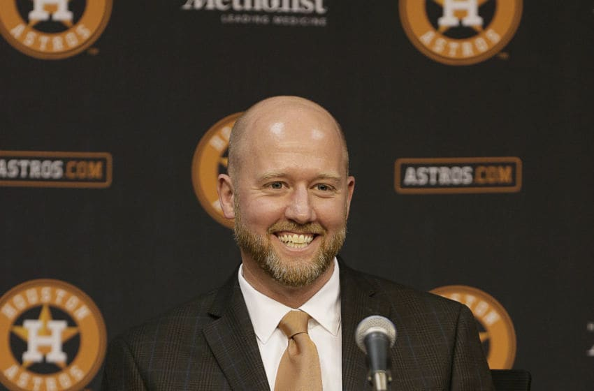 Houston Astros general manager James Click (Photo by Bob Levey/Getty Images)