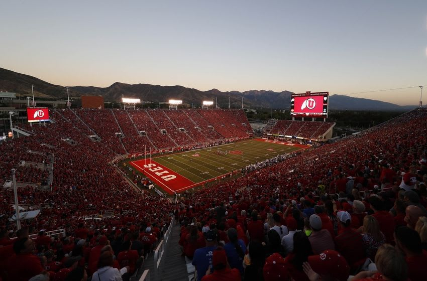 Sep 10, 2016; Salt Lake City, UT, USA; Utah Utes celebrated their fortieth straight sellout at Rice-Eccles Stadium Brigham Young Cougars. Mandatory Credit: Jeff Swinger-USA TODAY Sports