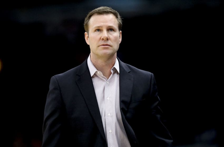 Chicago Bulls head coach Fred Hoiberg walks by the bench during the first half against the Denver Nuggets at the United Center in Chicago on March 21, 2018. His Bulls dropped a 118-116 decision to the visiting Detroit Pistons on Saturday, Oct. 2018. (Armando L. Sanchez/Chicago Tribune/TNS via Getty Images)