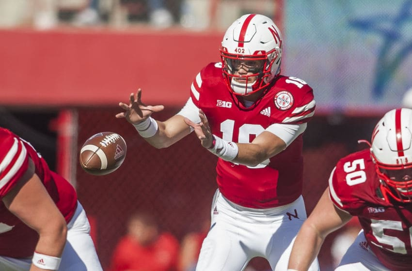 LINCOLN, NE - OCTOBER 27: Nebraska Cornhuskers quarterback Noah Vedral (16) receives a snap during the game between the Bethune-Cookman Wildcats and the Nebraska Cornhuskers on Saturday October 27, 2018 at Memorial Stadium in Lincoln, Nebraska. (Photo by Nick Tre. Smith/Icon Sportswire via Getty Images)