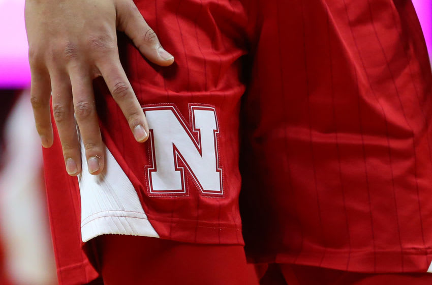PISCATAWAY, NJ - JANUARY 21: The Nebraska Cornhuskers logo on the uniform shorts during a game against the Rutgers Scarlet Knights at Rutgers Athletic Center on January 21, 2019 in Piscataway, New Jersey. (Photo by Rich Schultz/Getty Images)