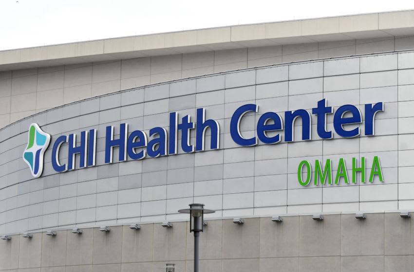 OMAHA, NE - JANUARY 25: Exterior view of the CHI Health Center before a college basketball game between the Creighton Bluejays and the Butler Bulldogs on January 25, 2019 in Omaha, Nebraska. (Photo by Mitchell Layton/Getty Images) *** Local Caption ***