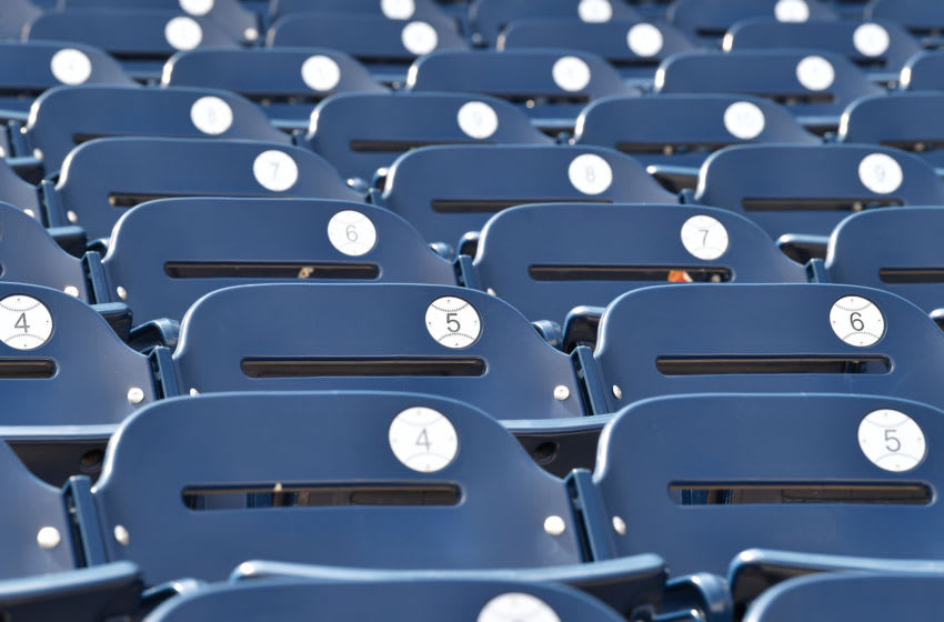 OMAHA, NE - JUNE 26: A general view of the seats prior to during game three of the College World Series Championship Series between the Michigan Wolverines and Vanderbilt Commodores on June 26, 2019 at TD Ameritrade Park Omaha in Omaha, Nebraska. (Photo by Peter Aiken/Getty Images)