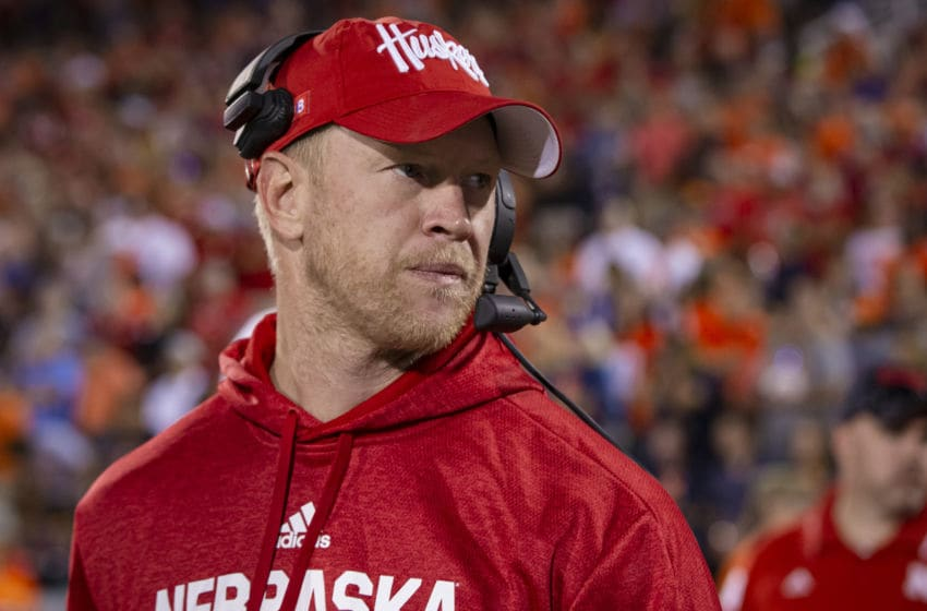 CHAMPAIGN, IL - SEPTEMBER 21: Head coach Scott Frost of the Nebraska Cornhuskers is seen during the game against the Nebraska Cornhuskers at Memorial Stadium on September 21, 2019 in Champaign, Illinois. (Photo by Michael Hickey/Getty Images)