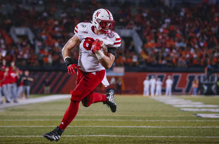 Jack Stoll #86 of the Nebraska Cornhuskers (Photo by Michael Hickey/Getty Images)
