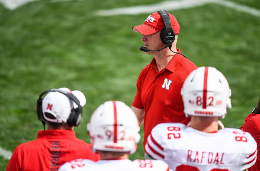 BOULDER, CO - SEPTEMBER 7: Head coach Scott Frost of the Nebraska Cornhuskers walks on the sideline during a game against the Colorado Buffaloes at Folsom Field on September 7, 2019 in Boulder, Colorado. (Photo by Dustin Bradford/Getty Images)