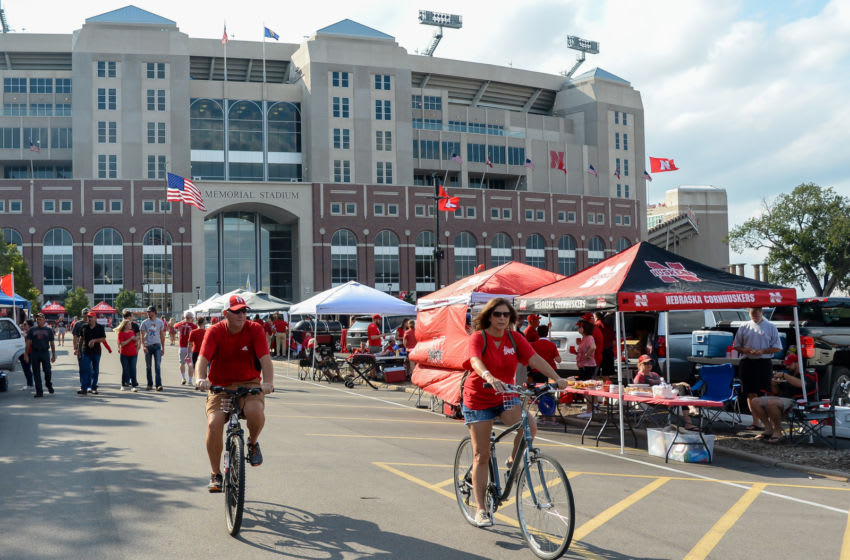 LINCOLN, NE - SEPTEMBER 14: Fans tailgate before the game between the Nebraska Cornhuskers and the Northern Illinois Huskies at Memorial Stadium on September 14, 2019 in Lincoln, Nebraska. (Photo by Steven Branscombe/Getty Images)