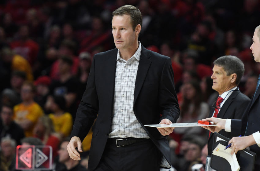 COLLEGE PARK, MD - FEBRUARY 11: Head coach Fred Hoiberg of the Nebraska Cornhuskers looks on during a college basketball game against the Maryland Terrapins at the Xfinity Center on February 11, 2020 in College Park, Maryland. (Photo by Mitchell Layton/Getty Images)