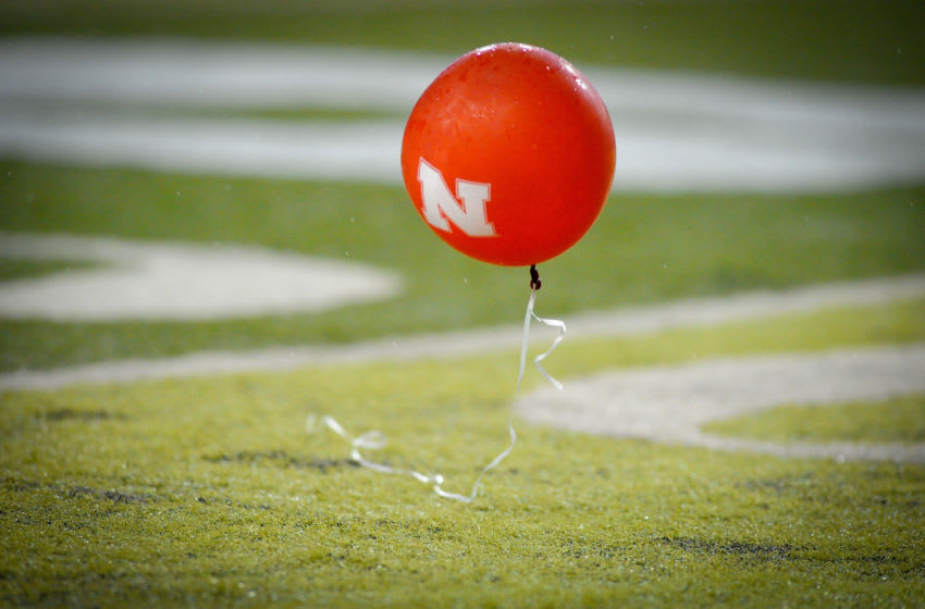 LINCOLN, NE - OCTOBER 8: A lone balloon floats across the Memorial Stadium field during the Nebraska Cornhusker Ohio State football game at Memorial Stadium October 8, 2011 in Lincoln, Nebraska. Nebraska Defeated Ohio State 34-27. (Photo by Eric Francis/Getty Images)