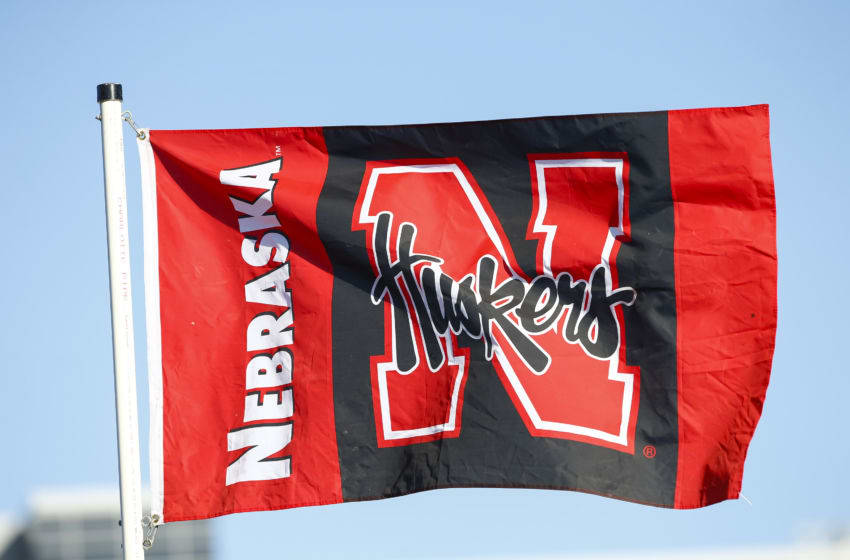 CHAMPAIGN, IL - SEPTEMBER 29: A Nebraska Cornhuskers flag is seen in the tailgating lot before the game against the Illinois Fighting Illini at Memorial Stadium on September 29, 2017 in Champaign, Illinois. (Photo by Michael Hickey/Getty Images)