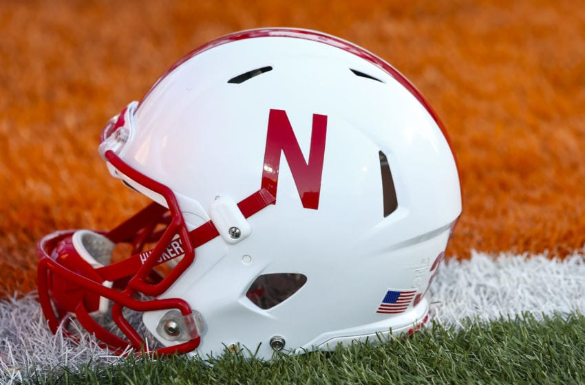 CHAMPAIGN, IL - SEPTEMBER 29: General view of a Nebraska Cornhuskers helmet is seen before the game against the Illinois Fighting Illini at Memorial Stadium on September 29, 2017 in Champaign, Illinois. (Photo by Michael Hickey/Getty Images)