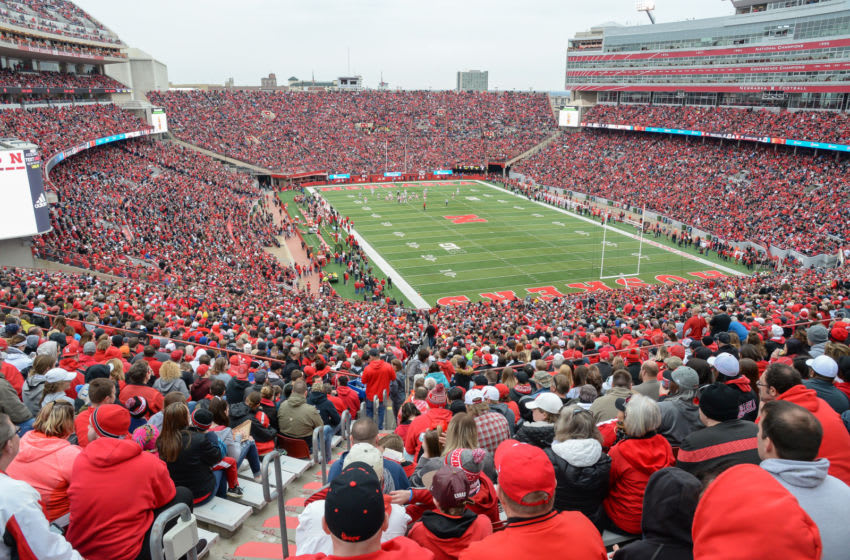 LINCOLN, NE - APRIL 21: A sell out crowd of over 86,000 watches action during the Spring game at Memorial Stadium on April 21, 2018 in Lincoln, Nebraska. (Photo by Steven Branscombe/Getty Images)