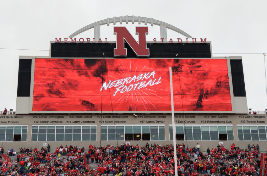LINCOLN, NE - APRIL 21: Stadium signage before the Spring game at Memorial Stadium on April 21, 2018 in Lincoln, Nebraska. (Photo by Steven Branscombe/Getty Images)