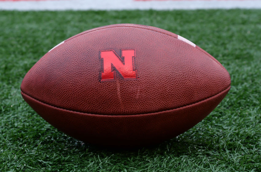 LINCOLN, NE - APRIL 21: Game ball used by the Nebraska Cornhuskers during the Spring game at Memorial Stadium on April 21, 2018 in Lincoln, Nebraska. (Photo by Steven Branscombe/Getty Images)