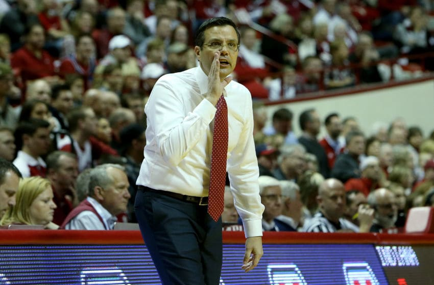 BLOOMINGTON, IN - DECEMBER 28: Head coach Tim Miles of the Nebraska Cornhuskers calls out instructions in the first half against the Indiana Hoosiers at Assembly Hall on December 28, 2016 in Bloomington, Indiana. (Photo by Dylan Buell/Getty Images)