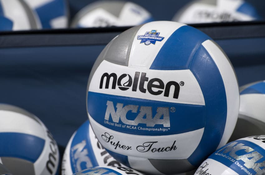 KANSAS CITY, MO - DECEMBER 16: The University of Nebraska takes on the University of Florida during the Division I Women's Volleyball Championship held at Sprint Center on December 16, 2017 in Kansas City, Missouri. Nebraska defeated Florida 3-1 for the national title. (Photo by Jamie Schwaberow/NCAA Photos via Getty Images)