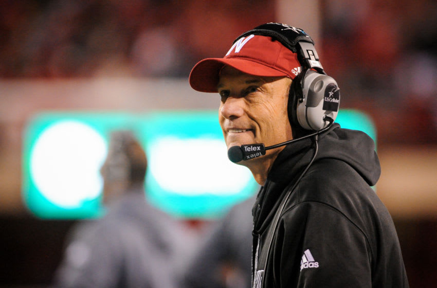 LINCOLN, NE - NOVEMBER 7: Nebraska Cornhuskers head coach Mike Riley during their game against the Michigan State Spartans at Memorial Stadium on November 7, 2015 in Lincoln, Nebraska. (Photo by Eric Francis/Getty Images)