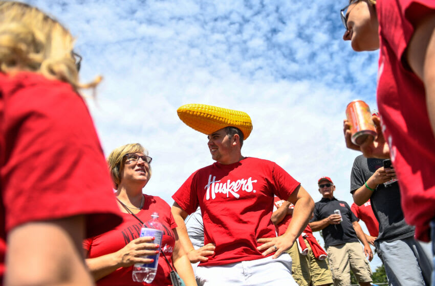 Nebraska Cornhuskers fans tailgate before a game (Photo by Dustin Bradford/Getty Images)