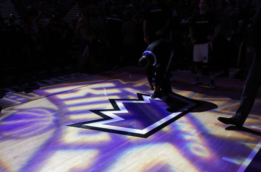 SACRAMENTO, CA - APRIL 7: A shot of the Sacramento Kings logo prior to the game against the Minnesota Timberwolves on April 7, 2015 at Sleep Train Arena in Sacramento, California. NOTE TO USER: User expressly acknowledges and agrees that, by downloading and or using this photograph, User is consenting to the terms and conditions of the Getty Images Agreement. Mandatory Copyright Notice: Copyright 2015 NBAE (Photo by Rocky Widner/NBAE via Getty Images)