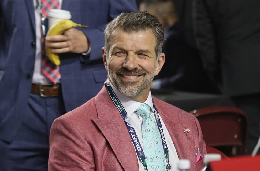 VANCOUVER, BRITISH COLUMBIA - JUNE 21: Marc Bergevin of the Montreal Canadiens attends the 2019 NHL Draft at the Rogers Arena on June 21, 2019 in Vancouver, Canada. (Photo by Bruce Bennett/Getty Images)