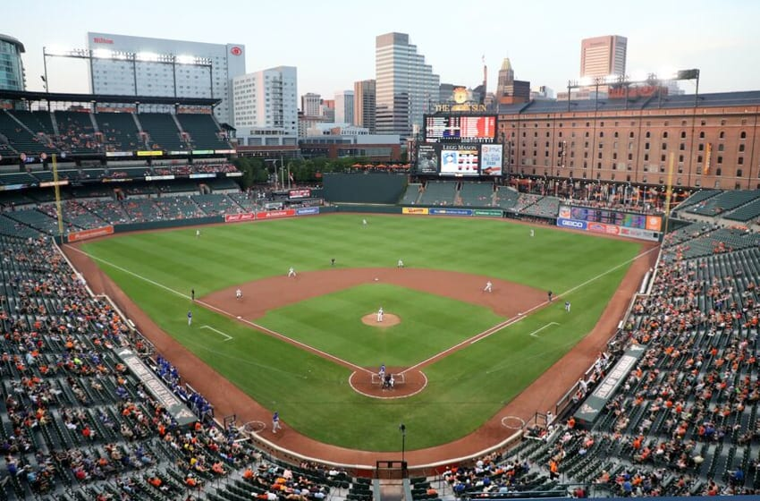 BALTIMORE, MD - AUGUST 29: A general view during the second inning of the Baltimore Orioles and Toronto Blue Jays game at Oriole Park at Camden Yards on August 29, 2018 in Baltimore, Maryland. (Photo by Rob Carr/Getty Images)