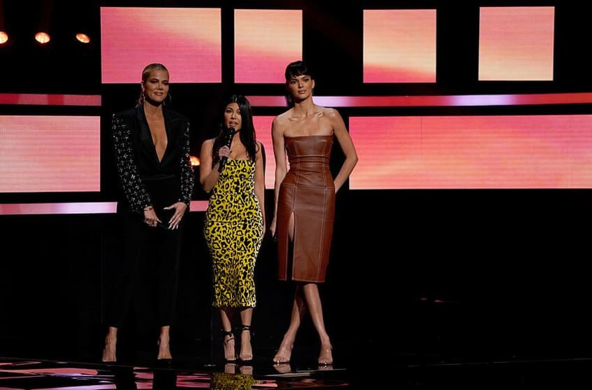 NBCUNIVERSAL UPFRONT EVENTS -- 2019 NBCUniversal Upfront in New York City on Monday, May 13, 2019 -- Pictured: (l-r) Khloe Kardashian, Kourtney Kardashian, Kendall Jenner,
