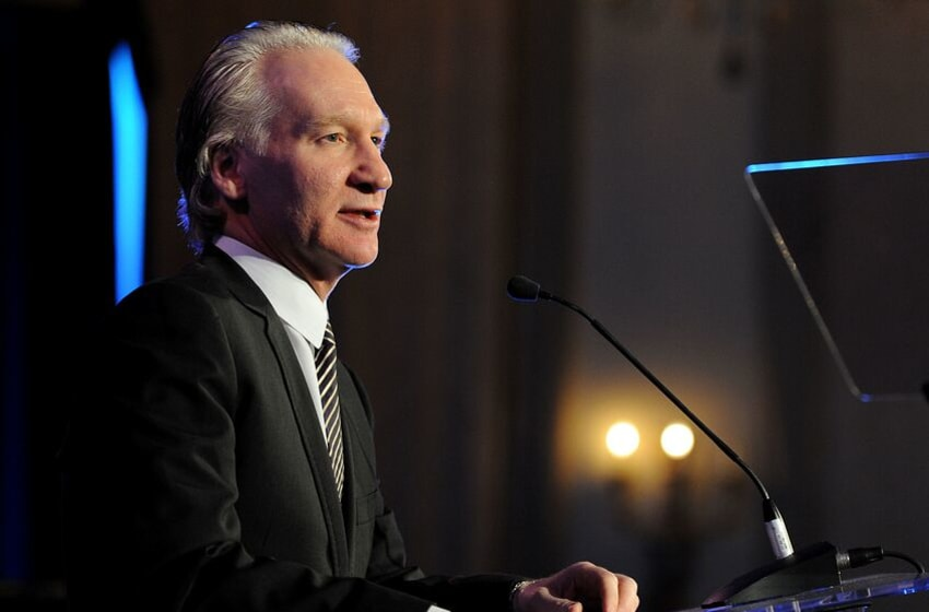 LOS ANGELES, CA - JANUARY 14: Host Bill Maher speaks onstage at the Cinema For Peace event benefitting J/P Haitian Relief Organization in Los Angeles held at Montage Hotel on January 14, 2012 in Los Angeles, California. (Photo by Michael Buckner/Getty Images For J/P Haitian Relief Organization and Cinema For Peace)