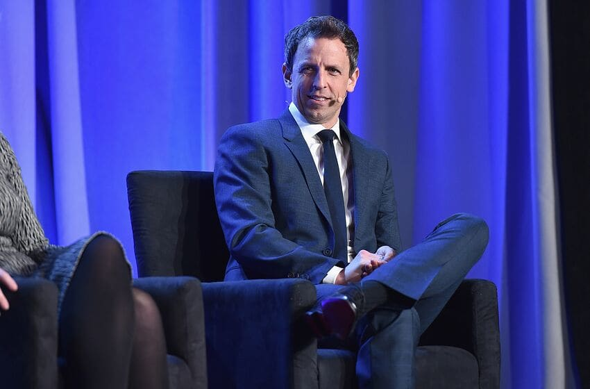NEW YORK, NY - FEBRUARY 02: Seth Meyers, host of Late Night with Seth Meyers speaks onstage at the American Magazine Media Conference at Grand Hyatt New York on February 2, 2016 in New York City. (Photo by Larry Busacca/Getty Images for Time Inc)