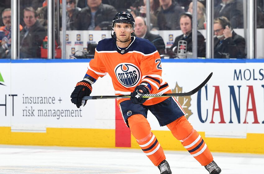 EDMONTON, AB - MARCH 14: Andrej Sekera #2 of the Edmonton Oilers skates during the game against the San Jose Sharks on March 14, 2018 at Rogers Place in Edmonton, Alberta, Canada. (Photo by Andy Devlin/NHLI via Getty Images) *** Local Caption *** Andrej Sekera