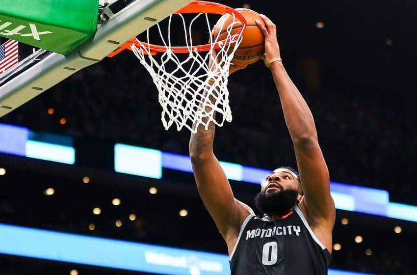Sources: Andre Drummond Likely To Stay In Detroit ...  |Andre Drummond Pistons Dunk