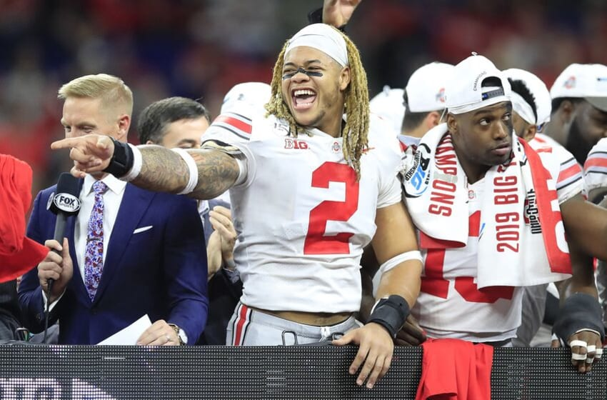 INDIANAPOLIS, INDIANA - DECEMBER 07: Chase Young #2 of the Ohio State Buckeyes celebrates after the BIG Ten Football Championship Game against the Wisconsin Badgers at Lucas Oil Stadium on December 07, 2019 in Indianapolis, Indiana. (Photo by Andy Lyons/Getty Images)