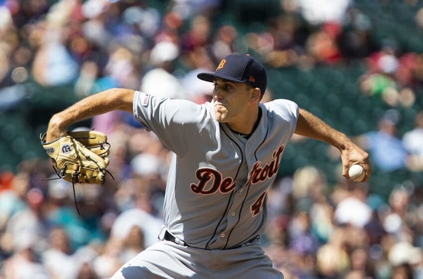 SEATTLE, WA - JULY 28: Matthew Boyd #48 of the Detroit Tigers pitches in the sixth inning against the Seattle Mariners at T-Mobile Park on July 28, 2019 in Seattle, Washington. (Photo by Lindsey Wasson/Getty Images)