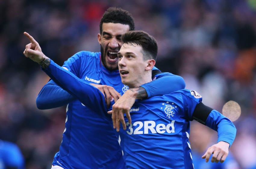 GLASGOW, SCOTLAND - DECEMBER 29: Ryan Jack of Rangers celebrates scoring his teams first goal of the game during the Ladbrokes Scottish Premier League between Celtic and at Ibrox Stadium on December 29, 2018 in Glasgow, Scotland. (Photo by Ian MacNicol/Getty Images)