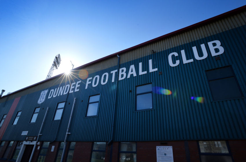 DUNDEE, SCOTLAND - MARCH 20 : Dens Park home of Dundee FC ahead of the Ladbrokes Scottish Premiership match between Dundee United FC and Dundee FC at Tannadice Park on March 20, 2016 in Dundee, Scotland. (Photo by Mark Runnacles/Getty Images)