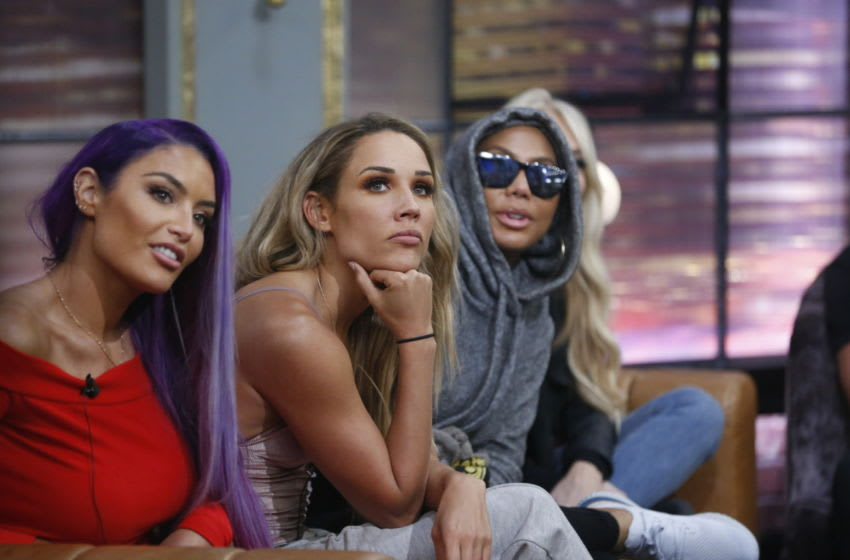 Celebrity Big Brother spoilers: There is already a new HOH after Joey eviction. (Natalie Eva Marie, Lolo Jones, and Tamar Braxton Photo: Sonja Flemming/CBS)
