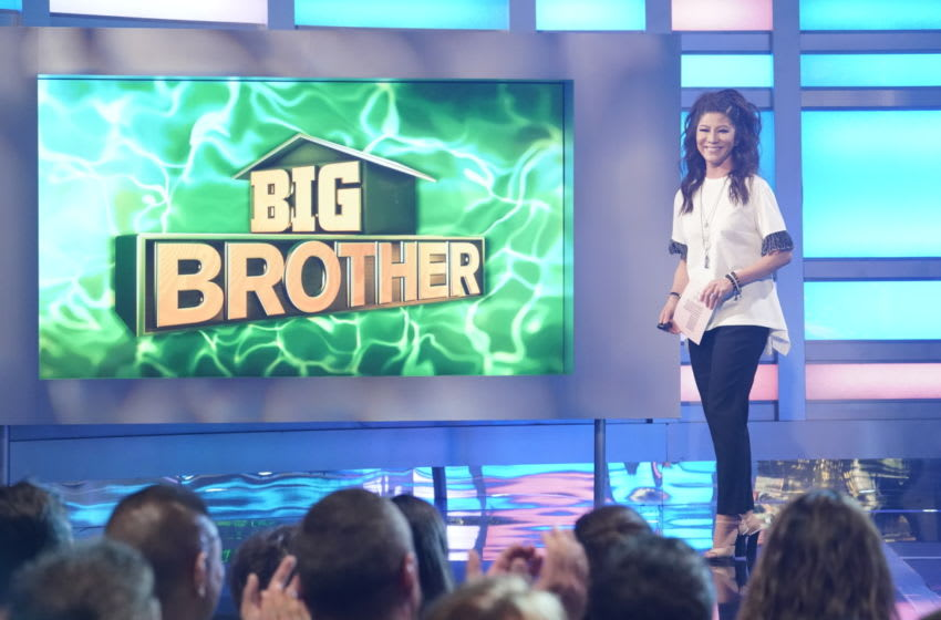 Host Julie Chen Moonves on the Live Eviction show #8 on Big Brother. Big Brother airs on Wednesdays (9:00-10:00 PM, ET/PT), Thursdays, featuring the live evictions (9:00-10:00 PM, LIVE ET/Delayed PT) and Sundays (8:00-9:00 PM, ET/PT). Reserved Photo: Robert Voets/CBS ©2019 CBS Broadcasting, Inc. All Rights Reserved