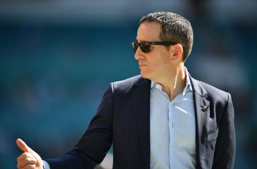MIAMI, FLORIDA - DECEMBER 01: Howie Roseman General Manager of the Philadelphia Eagles looks on prior to the game against the Miami Dolphins at Hard Rock Stadium on December 01, 2019 in Miami, Florida. (Photo by Mark Brown/Getty Images)