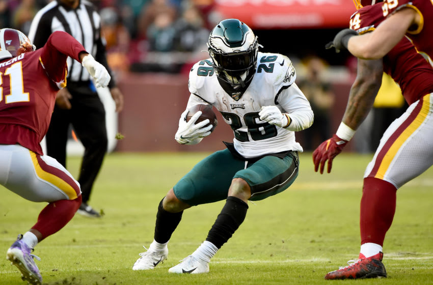 Miles Sanders #26, Philadelphia Eagles (Photo by Will Newton/Getty Images)