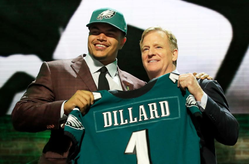 Andre Dillard, Philadelphia Eagles (Photo by Andy Lyons/Getty Images)