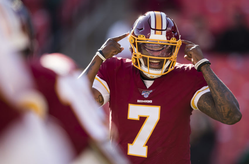 Dwayne Haskins, (Photo by Scott Taetsch/Getty Images)