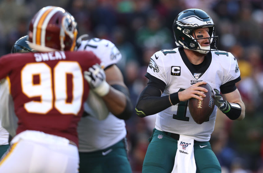 Carson Wentz #11 of the Philadelphia Eagles (Photo by Patrick Smith/Getty Images)