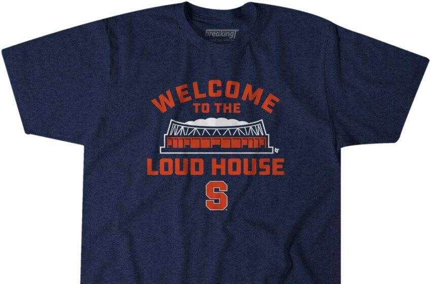Syracuse football (SyracuseWelcometotheLoudHouse_NCAA_BreakingT_shirt)
