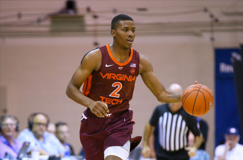 LAHAINA, HI - NOVEMBER 27: Landers Nolley II #2 of the Virginia Tech Hokies brings the ball upcourt during the first half of the game against the BYU Cougars at the Lahaina Civic Center on November 27, 2019 in Lahaina, Hawaii. (Photo by Darryl Oumi/Getty Images)